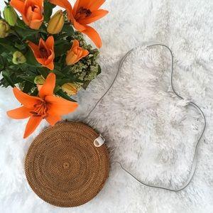 💐JUST IN💐Circular Rattan Bag-White Shoulder Bag